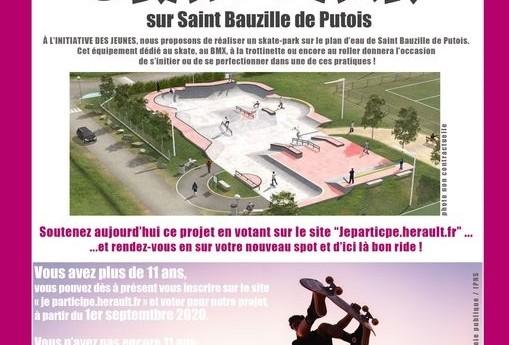 Budget participatif de l'Hérault : Votez pour un skate-park à Saint Bauzille de Putois !